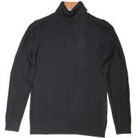 男式针织纯色高领毛衣羊毛衫2018冬季新款修身翻领内搭螺旋社会人