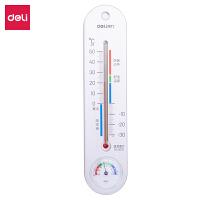 [满68包邮]得力9013温度计室内温度计湿度计家用温度计可挂婴儿儿童温度计免电池