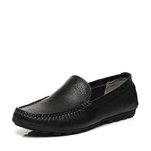 BASTO/百思图2017春季专柜同款牛皮套脚平跟舒适男休闲鞋BGF02AQ7