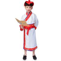 儿童古装汉服书童国学服装幼儿园男女弟子规三字经演出服