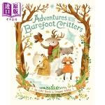 【中商原版】动物冒险 Adventures with Barefoot Critters 精品绘本 故事书 亲子绘本