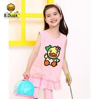 【4折价:71.6】B.duck小黄鸭童装女童T恤背心 105-130 BF2105905