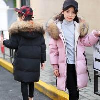 儿童羽绒服女童中长款女中大童2018韩版洋气新款女孩童装反季