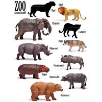 玩物【10款野生动物 出口国外 仿真动物模型玩具 】