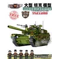 大型军事坦克模型积木拼装玩具男孩益智力儿童高难度6-14岁