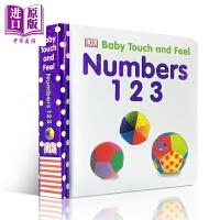 【中商原版】DK触摸启蒙 数字 Baby Touch and Feel Counting 儿童英语启蒙触摸纸板书 撕不烂