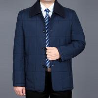 秋冬季中年男士棉衣薄款中老年男装休闲外套宽松薄爸爸装棉袄