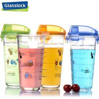 Glasslock三光云彩加厚玻璃杯刻度玻璃茶水杯450ML玻璃茶杯柠檬杯PC318