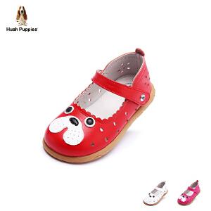 【3折价:134.4元】暇步士Hush Puppies童鞋2017年新款女童羊皮皮鞋小童卡通学生鞋宝宝鞋 DP9046