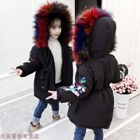 冬季女童棉衣2018新款韩版冬季中长款外套儿童加厚宝宝洋气冬装潮秋冬新款