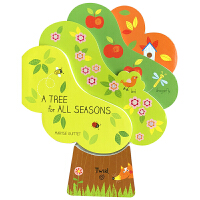 英文原版绘本 A Tree for All Seasons 大树幼儿启蒙四季认知纸板翻翻书 幼教书籍看图识物撕不烂可爱