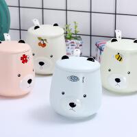 包邮 可爱卡通嘟嘟熊水杯 磨砂可爱创意马克杯韩式陶瓷杯