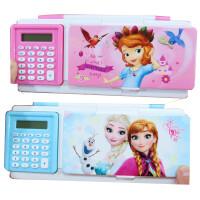 迪士尼冰雪奇缘小学生铅笔盒男女三层多功能大容量带密码锁文具盒