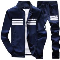 春季韩版学生立领卫衣长裤一套装青少年春天外套休闲运动衣服装男