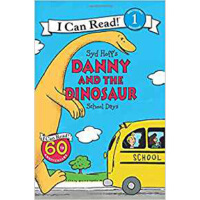英文原版 Danny and the Dinosaur: School Days I can read Level 1分级绘本读物 3-6岁幼儿图画故事书Syd Hoff