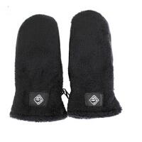 时尚男女士针织手套冬季超保暖手套海虎里绒毛手套