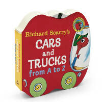 字母书 英文原版绘本读物Richard Scarry's Cars and Trucks from A to Z 入门