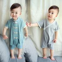 小宝宝夏装男0一1岁中国风婴儿衣服潮款周岁礼服男童中式唐装汉服