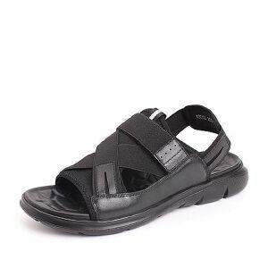 Belle/百丽2018夏季新款纺织品平底休闲舒适男凉鞋18081BL8
