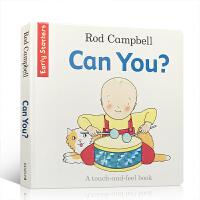 【全店300减100】英文原版 Can You?纸板触摸操作书 Dear Zoo同作家Rod Campbell 简单句型