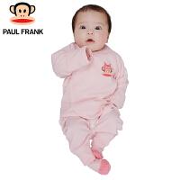 PWU1732001大嘴猴(paul frank)婴童长袖系带套装女童纯棉内衣