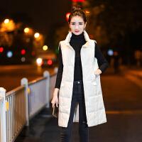 羽绒马甲女中长款 秋冬 白鸭绒轻薄袖修身韩版潮外套