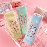 韩国创意笔袋透明文具袋简约小清新可爱大容量文具铅笔盒文具批发