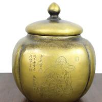 黄铜储物罐家居摆件铜储物罐 四大美女储物罐铜工艺品摆件