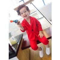 男童小西装套装花童礼服婚礼宝宝儿童西服韩版英伦帅气小孩休闲潮