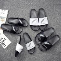 个性凉拖鞋男潮夏季时尚室外一字拖外穿大码男士沙滩鞋