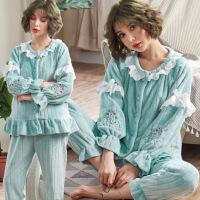 孕妇睡衣冬季加厚加绒怀孕期冬装棉宽松待产服入院12月份月子服
