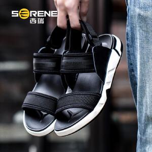 西瑞罗马凉鞋男士韩版透气沙滩鞋软底运动青年休闲鞋新款夏季2201-1