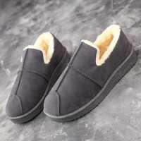 雪地靴女棉鞋女保暖冬季韩版女款学生棉鞋保暖加绒女冬百搭一脚蹬磨砂面包鞋3345MM