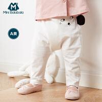 【满200减50】迷你巴拉巴拉婴儿针织长裤男童女宝宝夏季裤子儿童可爱耳朵防蚊裤