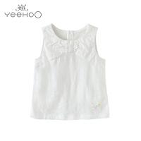 【直降】英氏女童夏季吊带背心纯棉 女宝宝无袖T恤儿童打底衫上衣172233