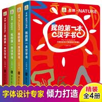 我的第一本汉字书 全套4册仓颉象形字儿童识字游戏卡片3-6岁畅销 小学生一年级幼小衔接一日一练幼儿园认字卡全套学龄前启
