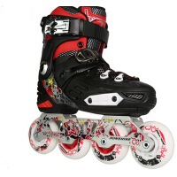 青少年儿童专业旱冰鞋花鞋轮滑鞋 直排可调花式鞋溜鞋儿童节生日礼物