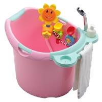 儿童浴桶大号 婴儿浴盆宝宝洗澡盆厚可坐洗澡桶