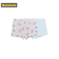 巴拉巴拉童装男童平角裤儿童内裤裤头夏装2018新款四角裤两件装棉