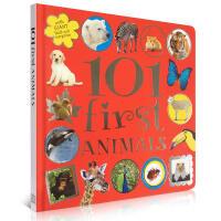 英文儿童动物认知启蒙图书 101 First Animals 精装少儿读物