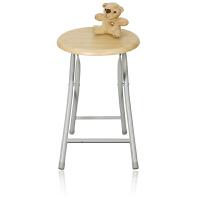 [当当自营]慧乐家 折叠椅 木面金属便携椅凳 带靠背电脑椅 木纹色 22018