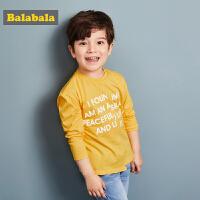 巴拉巴拉男童T恤长袖小童宝宝儿童春秋2018新款时尚圆领纯棉上衣