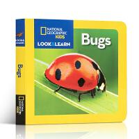 英文原版绘本纸板书 National Geographic Kids Look and Learn Bugs 美国国家