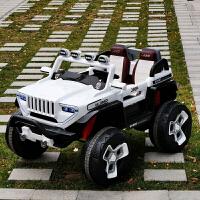新款蓝牙音乐早教车可坐人四轮汽车双人双座四驱动jeep越野车小孩子遥控玩具车可驾驶大电瓶童车