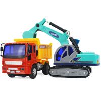 儿童玩具车工程车套装组合小挖掘车和翻斗车男孩挖土机卡车 32521挖沙组合