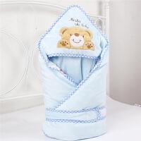 婴儿抱被包被新生儿春夏季纱布秋冬款大宝宝抱毯可脱胆