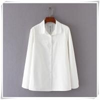 加肥加大码胖MM加绒衬衫女200斤长袖冬季韩版白色加厚保暖衬衣潮