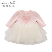 davebella戴维贝拉春装新款女童连衣裙 宝宝网纱公主裙DB7050
