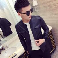 小码男士皮夹克矮个子XS S码韩版修身外套纯色小款上衣外衣潮