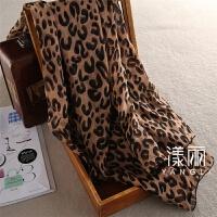 顺滑平纹真丝经典棕色豹纹真丝丝巾围巾披肩桑蚕丝夏季沙滩巾 宽135*长245 厘米